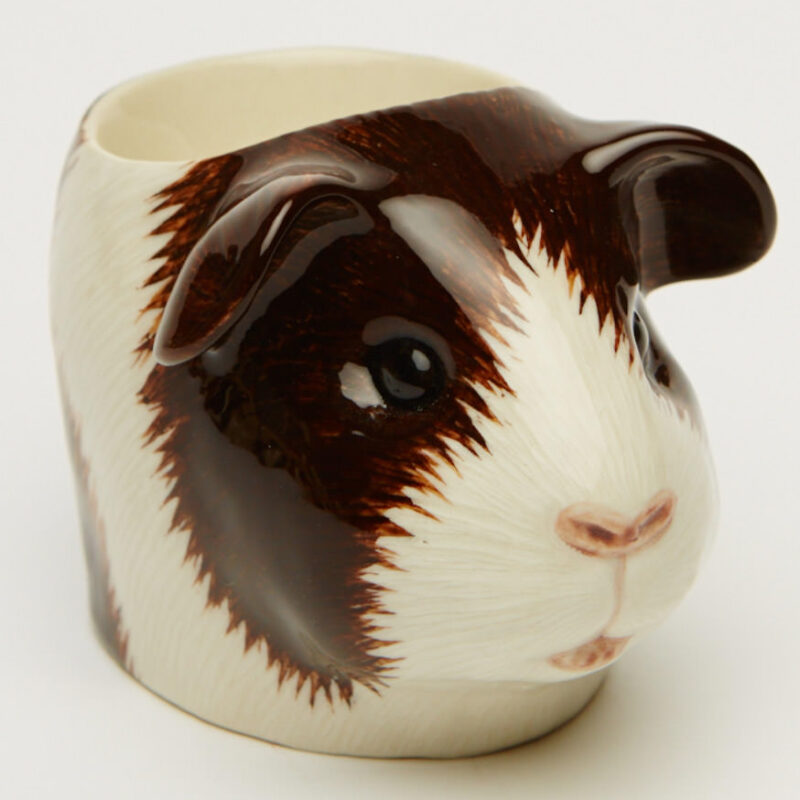 Quail Egg Cup Guinea Pig Brown/White