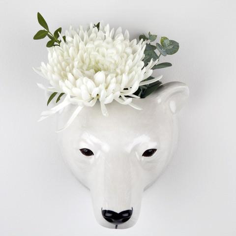 Quail Wall Vase Polar Bear