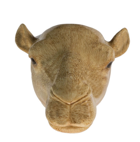 Quail Wall Vase Camel