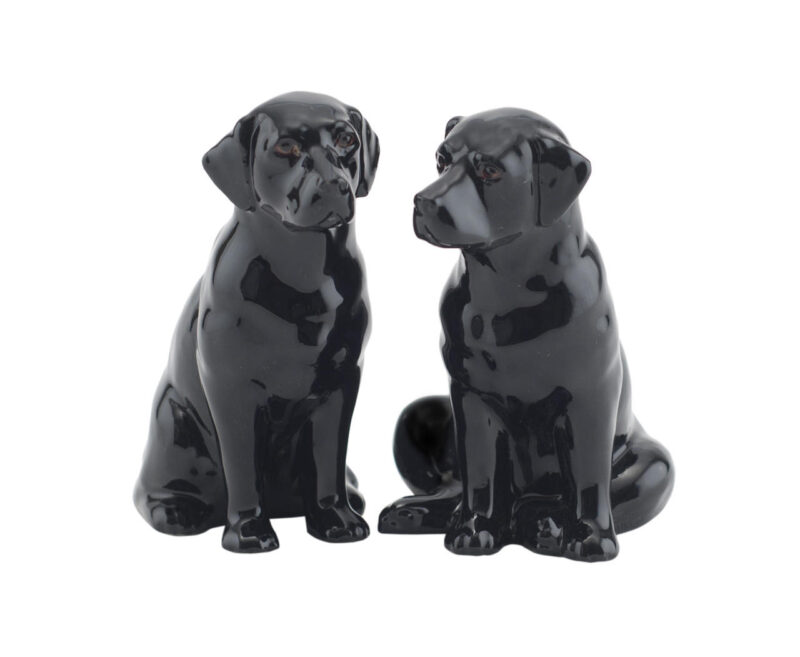 Quail Salt and Pepper Shakers Black Labrador