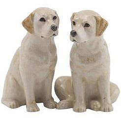 Quail Salt and Pepper Shakers Gold Labrador
